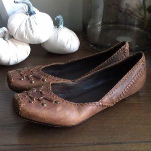 EUC Frye Leather Harness Flats